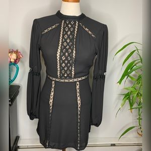 Express Black and Nude Dress